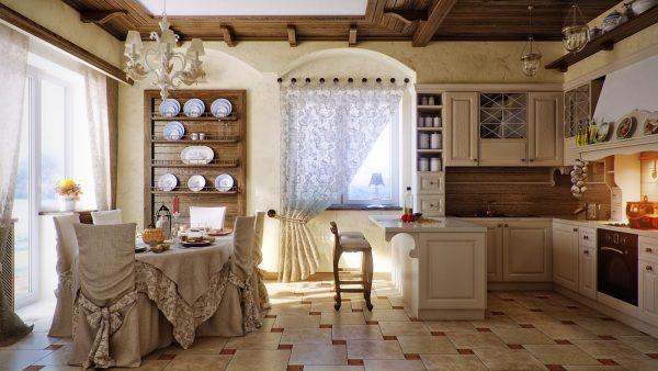 Оригинальный дизайн кухни в стиле прованс