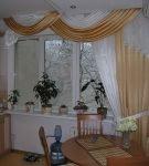Односторонние шторы с ламбрекеном