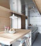 Дизайн современной кухни в загородном доме