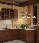 Освещение на кухне в стиле кантри