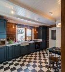 Характерная плитка на кухне в стиле прованс