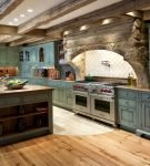 Стиль прованс в оформлении большой кухни