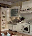 Обои на кухне в стиле прованс