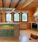 Интересные плетёные детали на кухне в стиле прованс