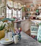 Романтичный стиль прованс в оформлении кухни