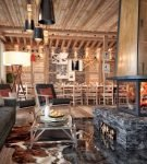 Роскошная кухня в стиле шале