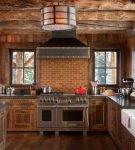 Кухня в стиле альпийского домика