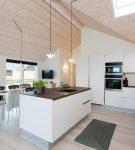 Интерьер кухни в скандинавском стиле