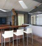 Скандинавский стиль в дизайне кухни в частном доме