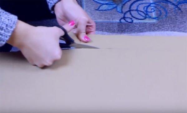 Нарезание картонных полосок