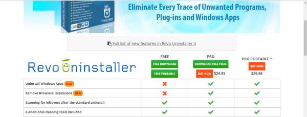 Официальный сайт Revo Uninstaller