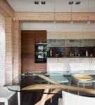 Современная кухня со стеклянной столешницей