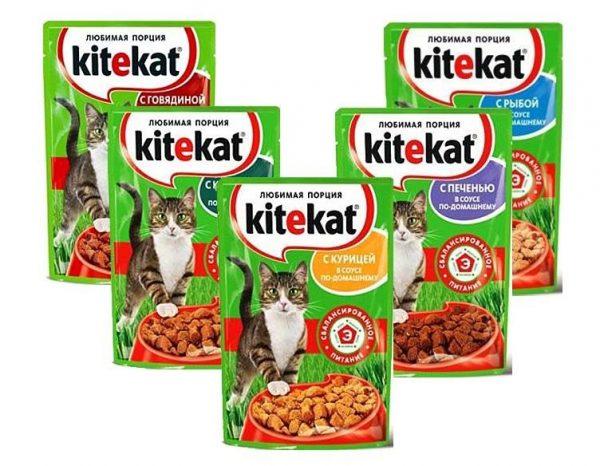 Линейка влажных кормов Kitekat