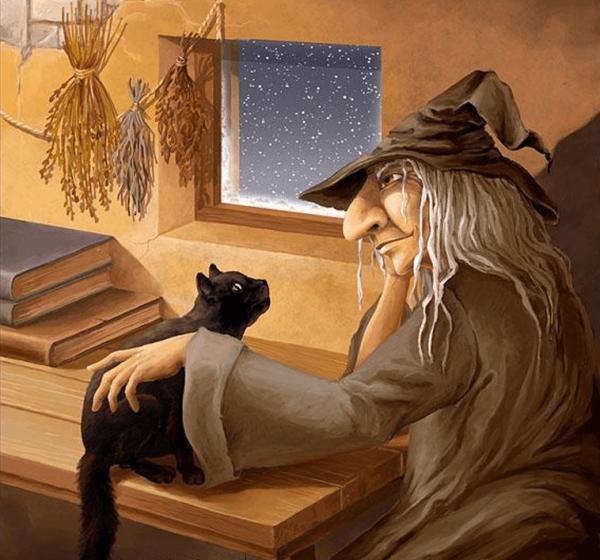 Кот и старая ведьма