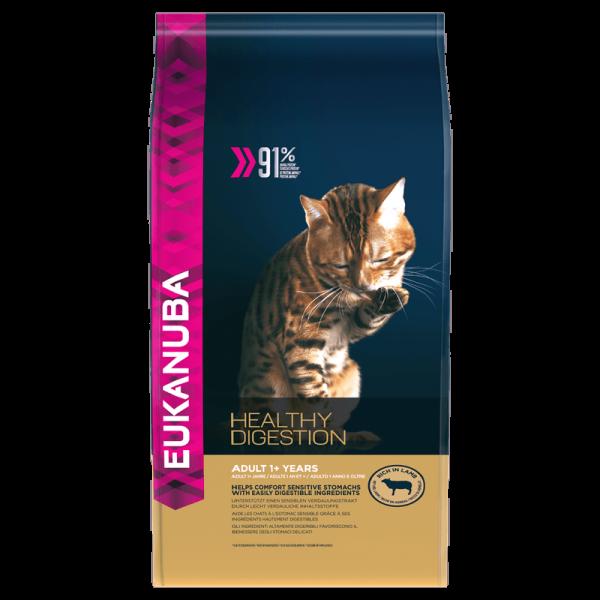 Корм для взрослых кошек Eukanuba