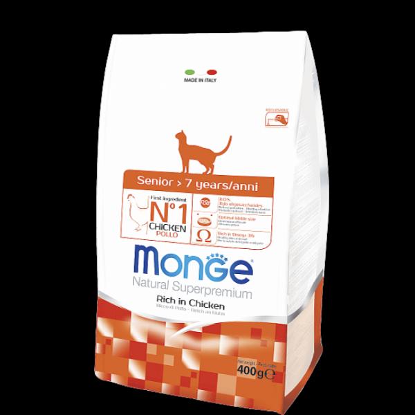 Сухой корм для пожилых кошек Monge