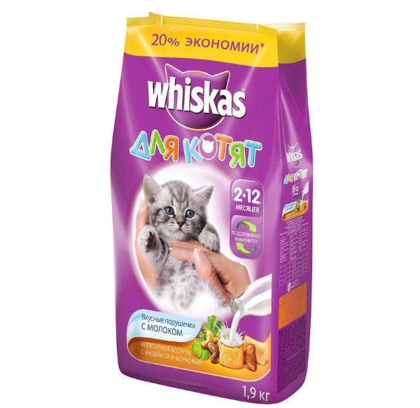 Сухой корм Whiskas для котят