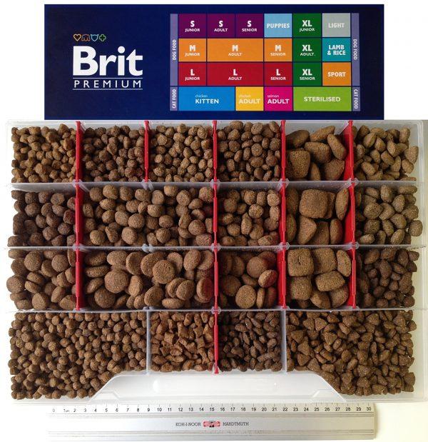 Размеры гранул корма Brit