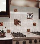 Фартук кухни с кофейной тематикой