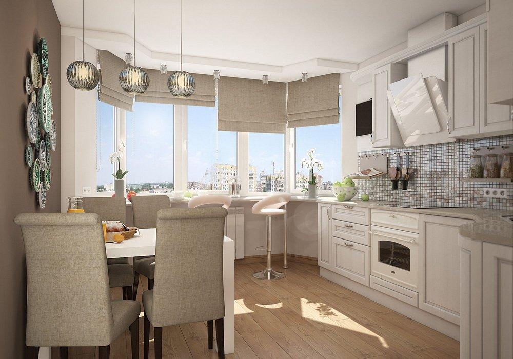 Дизайн кухни с с эркером: современные дизайнерские решения и оригинальные  идеи, фото-примеры оформления