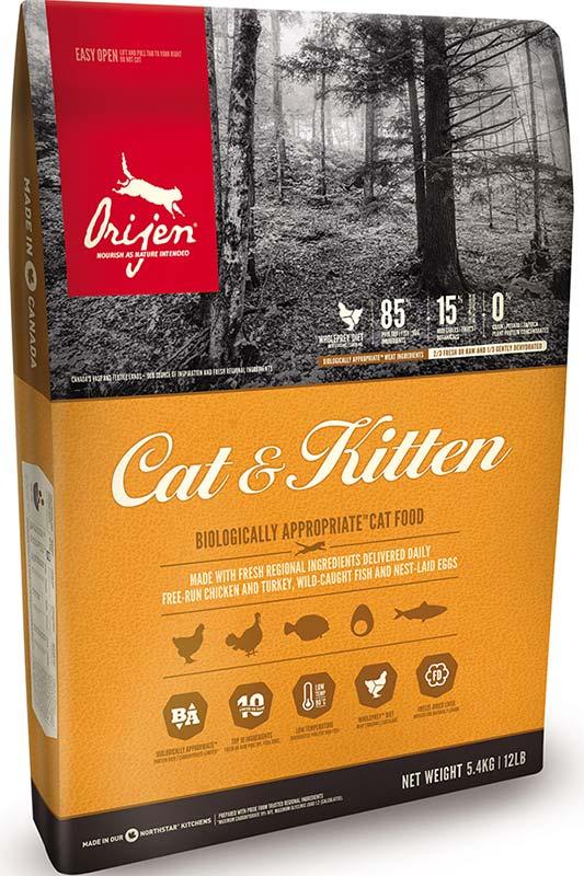 Сухой корм для котят и взрослых кошек холистик-класса Orijen