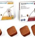 Две упаковки таблеток Фронтлайн для собак разного веса