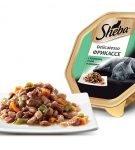 Консервы серии Sheba Delicatesso Фрикассе с кроликом, уткой и овощами