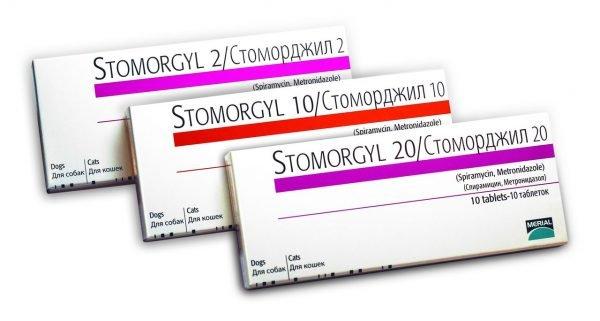 Упаковки препарата Стоморджил