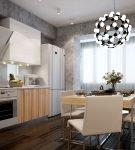 Кухня с венецианской штукатуркой