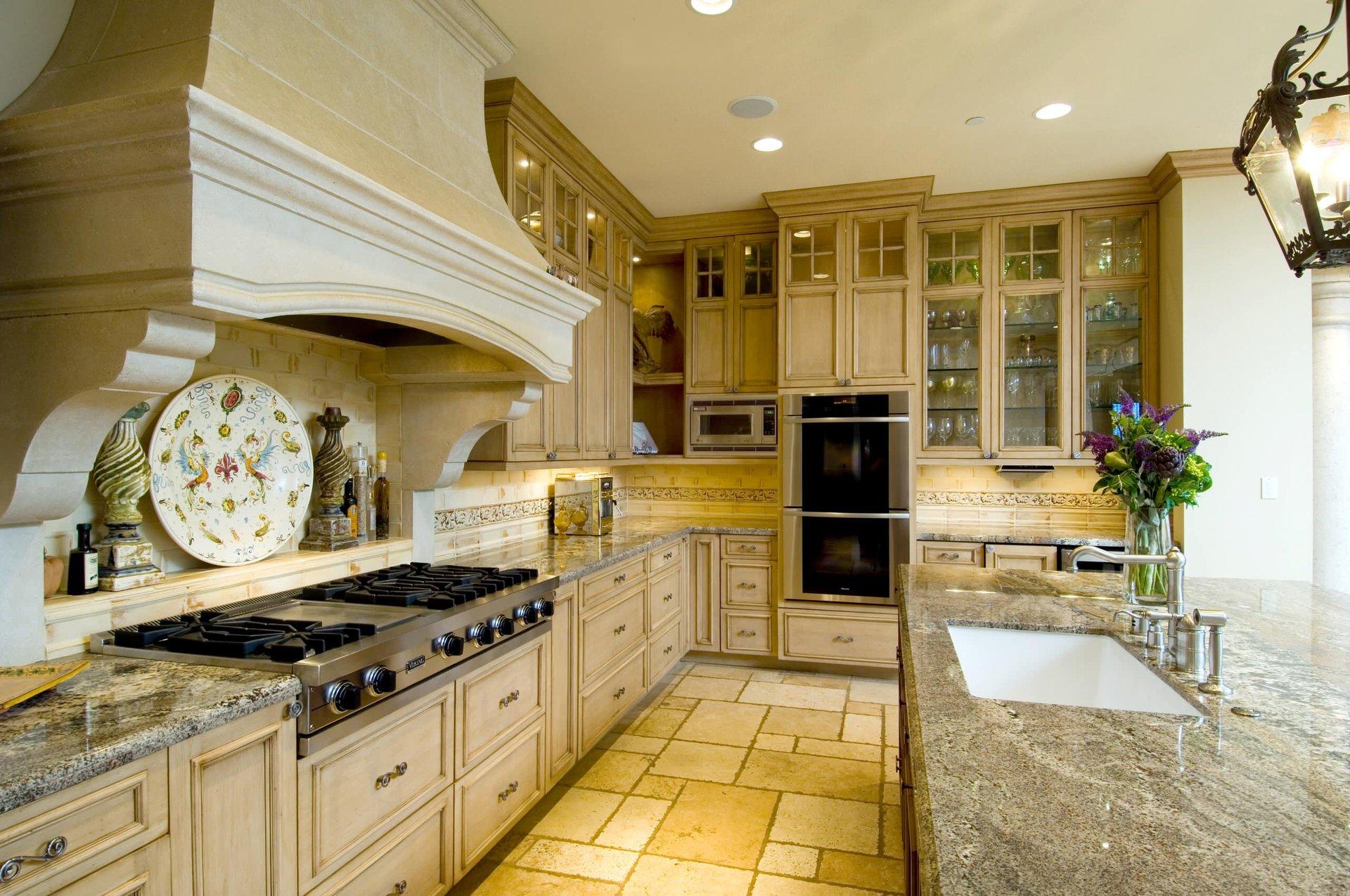 элементы дизайн кухни в итальянском стиле фото него