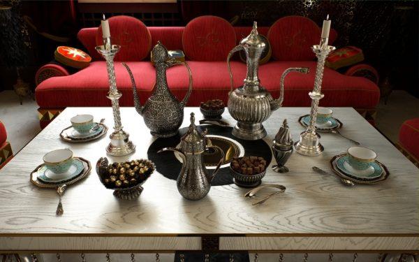Варианты посуды для восточного интерьера