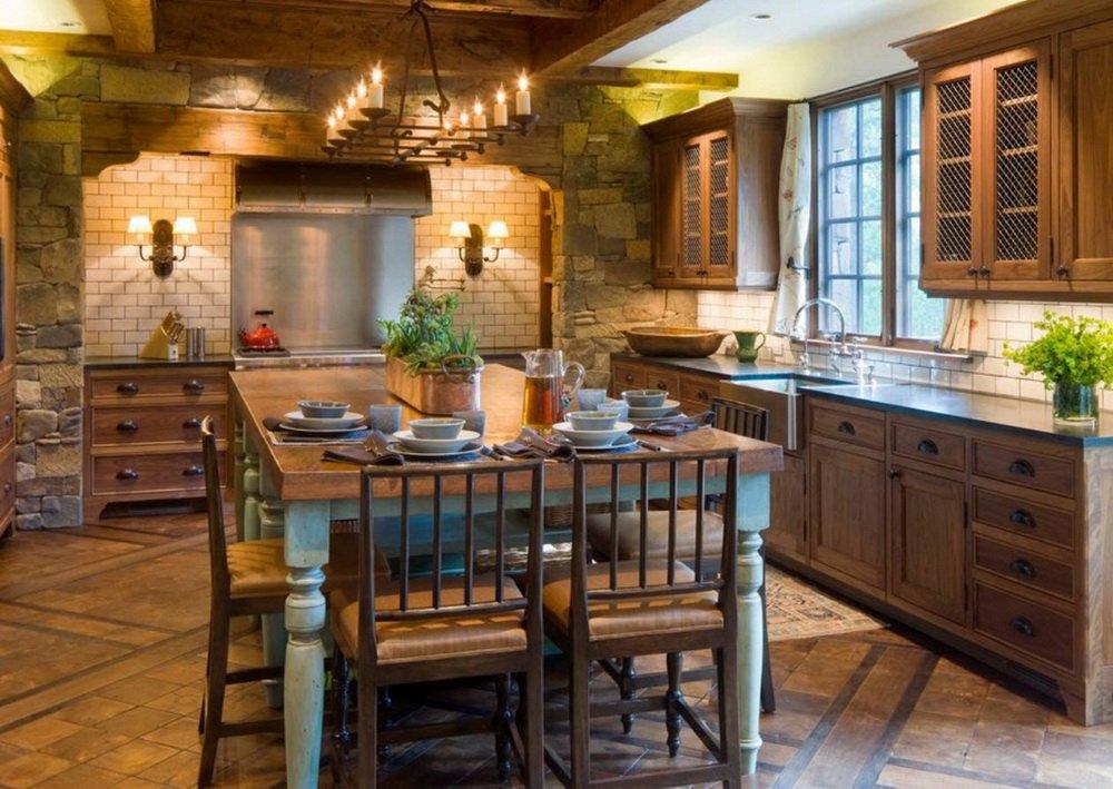 дизайн кухни в стиле шале фото говядины зачистите пленок