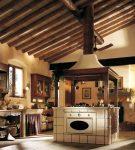 Кухня шале с элементами прованса