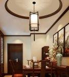 Строгая люстра в китайском стиле для обеденной зоны
