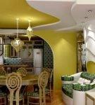 Яркий дизайн кухни в современном восточном стиле