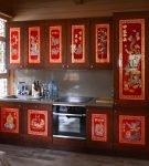 Яркая кухня в китайском стиле