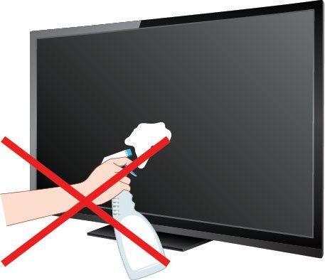 Нельзя распылять средство прямо на экран