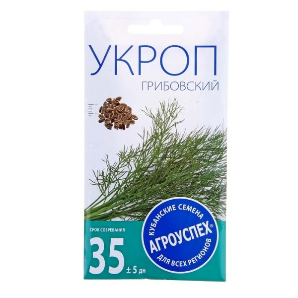 семена укропа Грибовский