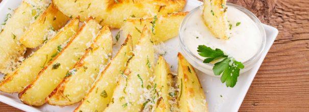 Картофель с хрустящей корочкой, приготовленный в духовке