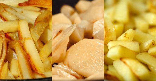 Ломтики картошки