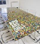 Столешница из конструктора Лего