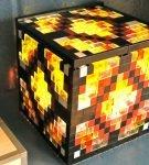 Ночник из прозрачных и разноцветных деталей Лего