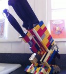 Подставка для ножей из Лего