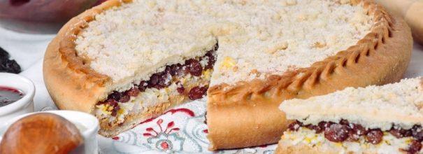 Пирог губадия с творогом и изюмом