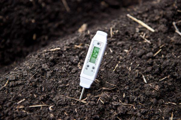 Измерение температуры земли