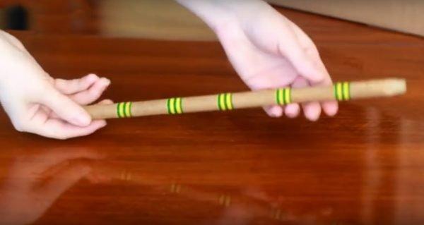 Декор палочки по всей длине