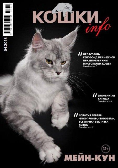 Обложка журнала с мейн-куном