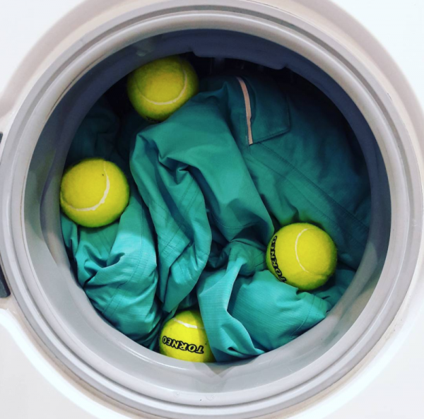 Теннисные мячи в стиральной машине