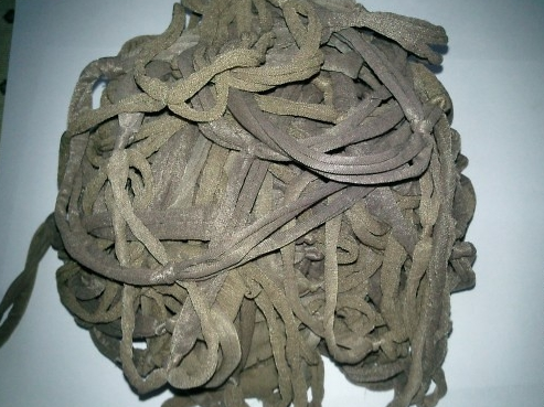Пряжа из колготок: готовая нить в клубке