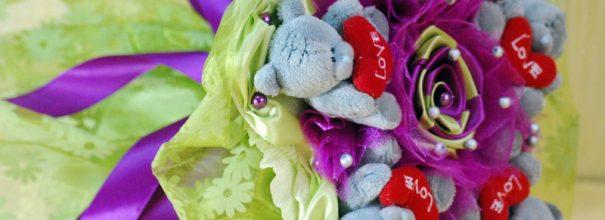 Букет из игрушек с мишками Тедди